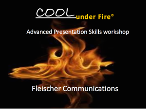 Cool Under Fire© workshop